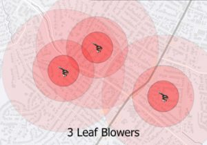 3 leaf blowers